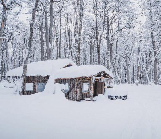 Refugio Nunatak en invierno