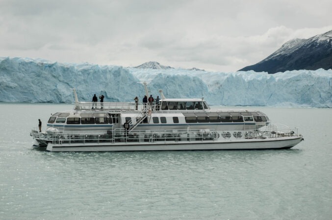 Vista del Glaciar Perito Moreno desde el lago